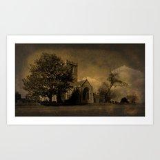 The Parish Church of St Andrew   Texture Art Print