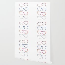 Bespectacled // Watercolor Glasses Print Wallpaper