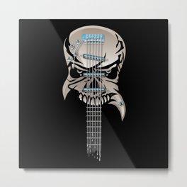Skull Guitar Metal Print