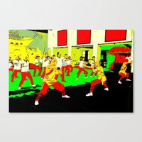 workout Canvas Prints featuring Workout by lookiz