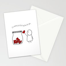 I'm Saving Up All My Love For You! Stationery Cards