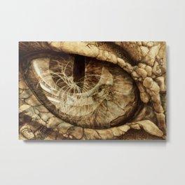 Dragon Eye Reflection of Creation UP Metal Print