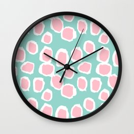 Hayden - abstract trendy gender neutral colorful bright happy dorm college decor pattern print art Wall Clock