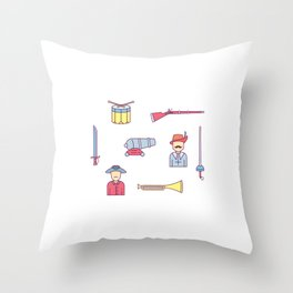 Happy Confederacy Heroes Day Throw Pillow