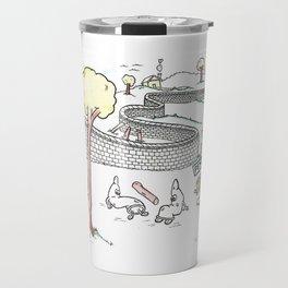Condoms Cannot Break that Wall Travel Mug