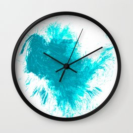 Abstract Aqua Brushstroke Splash Twist Wall Clock