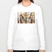 giraffes Long Sleeve T-shirts featuring Giraffes by RIZA PEKER