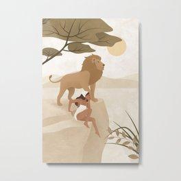 Spirit Animal – Lion Metal Print