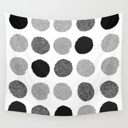 Yves - greyscale monochrome minimal pattern dots art print cell phone case for modern decor Wall Tapestry