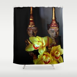 Out From The Shadows Shower Curtain