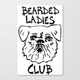 Bearded Ladies Club Canvas Print