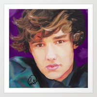 liam payne Art Prints featuring Liam Payne  by Tune In Apparel