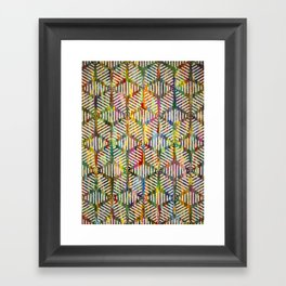 Trapped in a Web of Snowflakes Framed Art Print