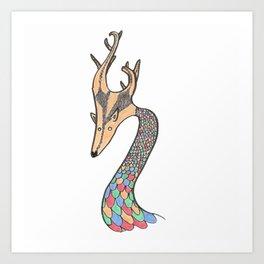 Dragon Fawn Art Print