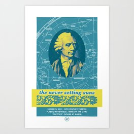 The Never Setting Suns - CD Release Show Art Print