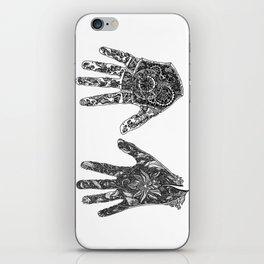 Hands of Contrast iPhone Skin