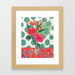 Tropical Hibiscus Bouquet Framed Art Print