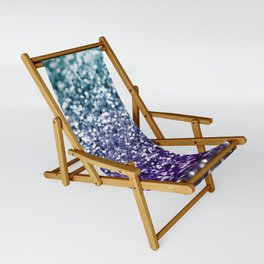 Aqua Purple Ombre Glitter #2 #decor #art #society6 Sling Chair