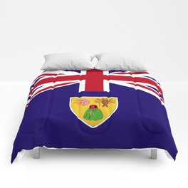 Turks and Caicos Islands flag emblem Comforters