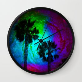 Nebula sky Cali Wall Clock