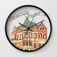 archer Wall Clocks featuring Archer Avenue by Nan Lawson