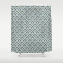 Two-toned square pattern Shower Curtain