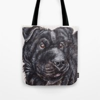 seal Tote Bags featuring Seal by Mona Figueira