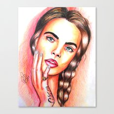 Cara Delevingne Canvas Print
