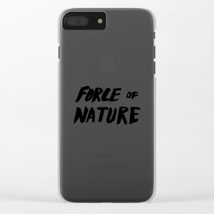 Force of Nature x Cloud Forest Clear iPhone Case