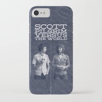scott pilgrim iPhone & iPod Cases featuring Scott Pilgrim Vs The World by Bill Pyle
