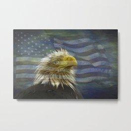 Patriotic Eagle Metal Print