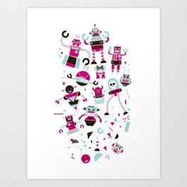 Robots! Destroy! Destroy! Art Print