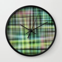 Modern Scottish Tartan Plaid Pattern Wall Clock
