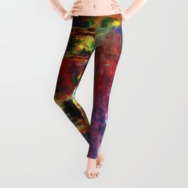 FIERY SUNS ABSTRACT DESIGN Leggings