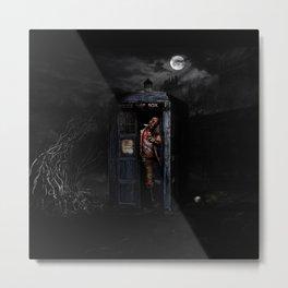 Tardis Zombie Nightmare Metal Print