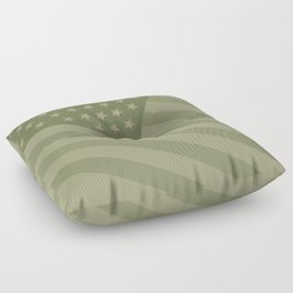 Camo Stars and Stripes – USA Flag in Military Camouflage Colors [FalseFlag 1] Floor Pillow