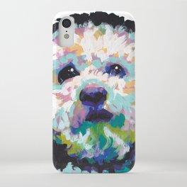 maltese poodle Maltipoo Dog Portrait Pop Art painting by Lea iPhone Case