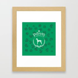 St. Patrick's Day Dalmatian Funny Gifts for Dog Lovers Framed Art Print