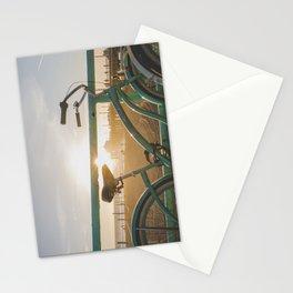 Bike & Beach in Sunny Manhattan Beach, California Stationery Cards
