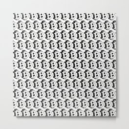 Bitcoin pattern | economy gift Metal Print