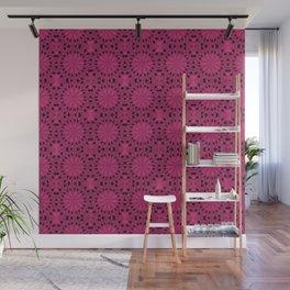 Pink Yarrow Star Wall Mural