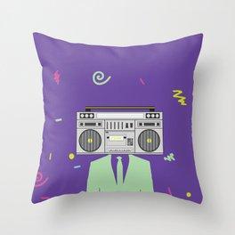 Funk Boombox Man Party Throw Pillow