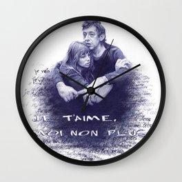 Je t'aime - Jane Birkin & Serge Gainsbourg Wall Clock