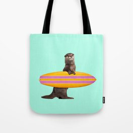 SURFING OTTER Tote Bag