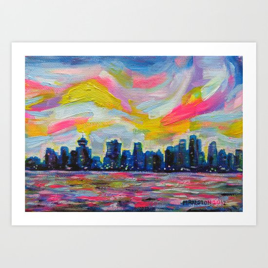 An Evening In Vancouver  Art Print