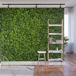 Green Leaves Pattern Wall Mural