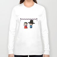 korean Long Sleeve T-shirts featuring Korean Chibis by artwaste