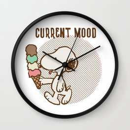 Snoopy Current Mood Wall Clock