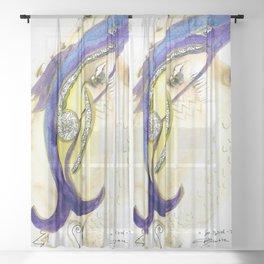 See Bird Fish Sheer Curtain