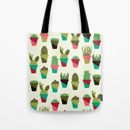 Succulents in Pots Tote Bag